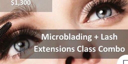 Microblading + Lash Extensions Combo Class Philadelphia PA