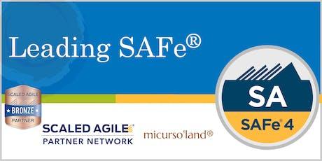 Leading SAFe® con Certificación SAFe® Agilist (SA) tickets