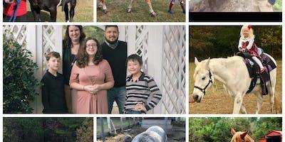 Horse rides, zipline, bounce house, bonfire $10/kid