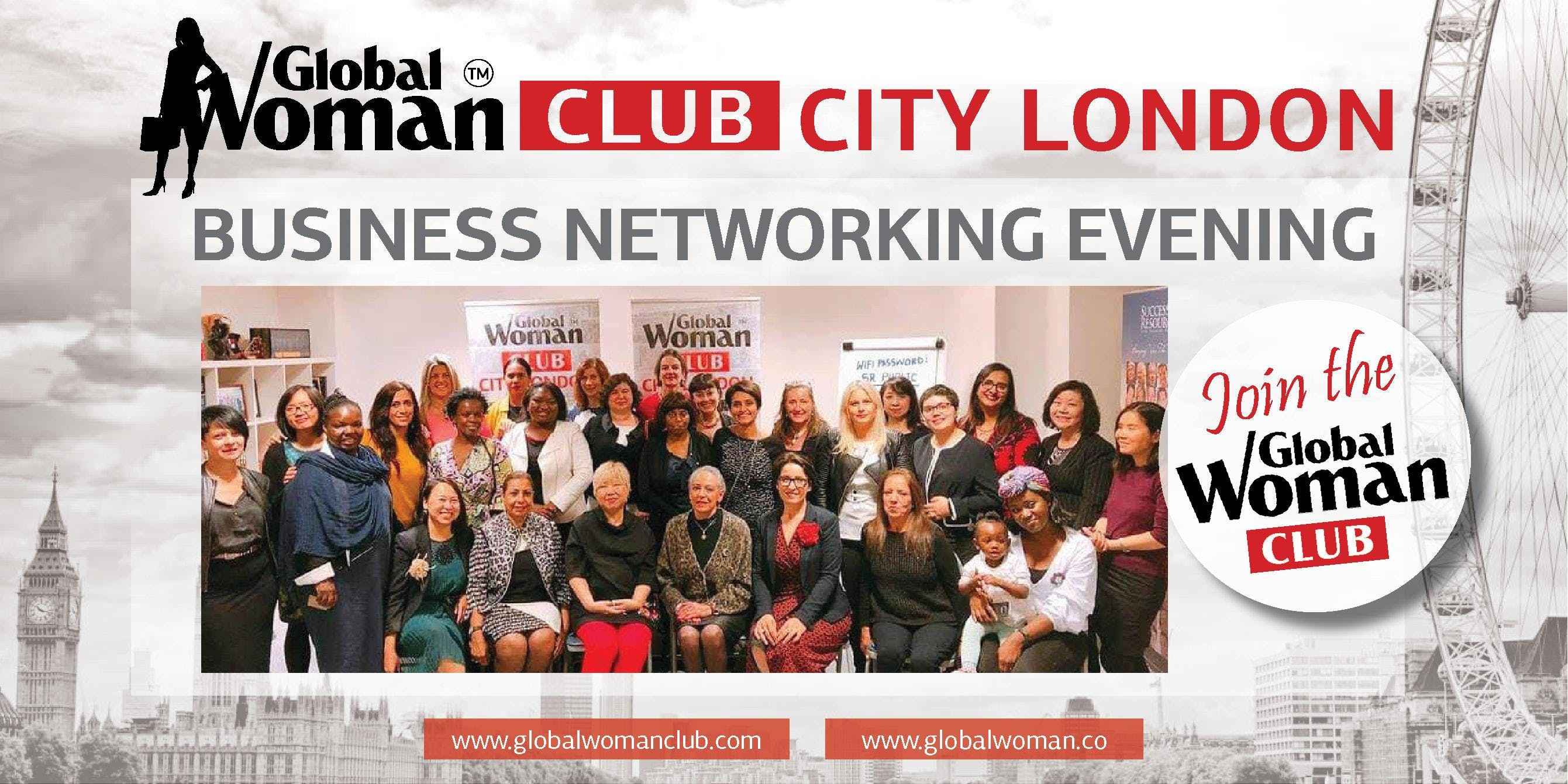 GLOBAL WOMAN CLUB CITY LONDON - BUSINESS NETWORKING EVENING - JANUARY