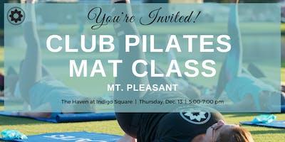 Free Club Pilates Mat Class in Mt. Pleasant!