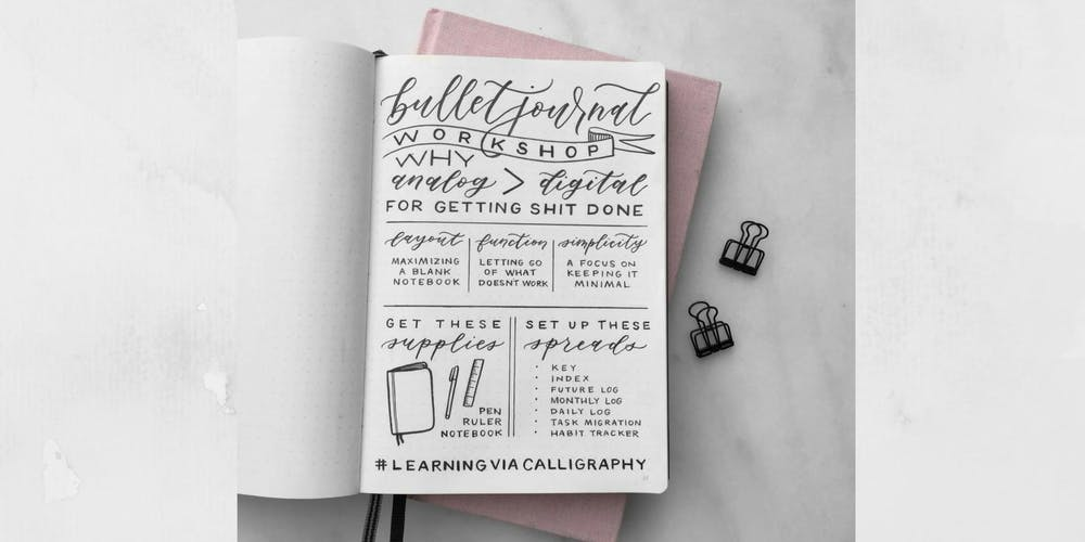Bullet Journal Workshop Tickets Thu 10 Jan 2019 At 630 PM
