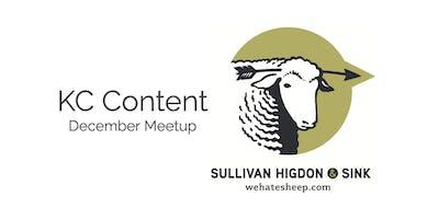 KC Content December Meetup