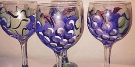 Stellas Not Your Average Paint N Sip Grape Design Wine Bottle W