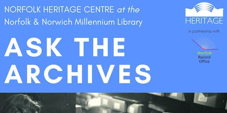 Ask the Archives - Free One to One Research Advice tickets