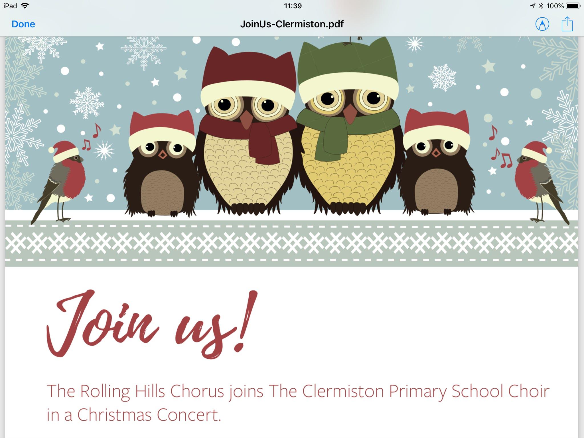 CLERMISTON'S CHRISTMAS CONCERT AT ST KENTIGER