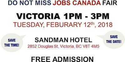 FREE: Victoria Job Fair –  February 12th, 2018