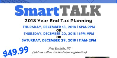 SmartTALK: 2018 Year End Tax Planning