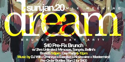 Dream: 2hr Bottomless Brunch + Day Party, MLK Weekend @ Jimmy's