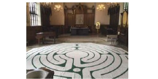 A quiet day experiencing the labyrinth with Jan Sellers