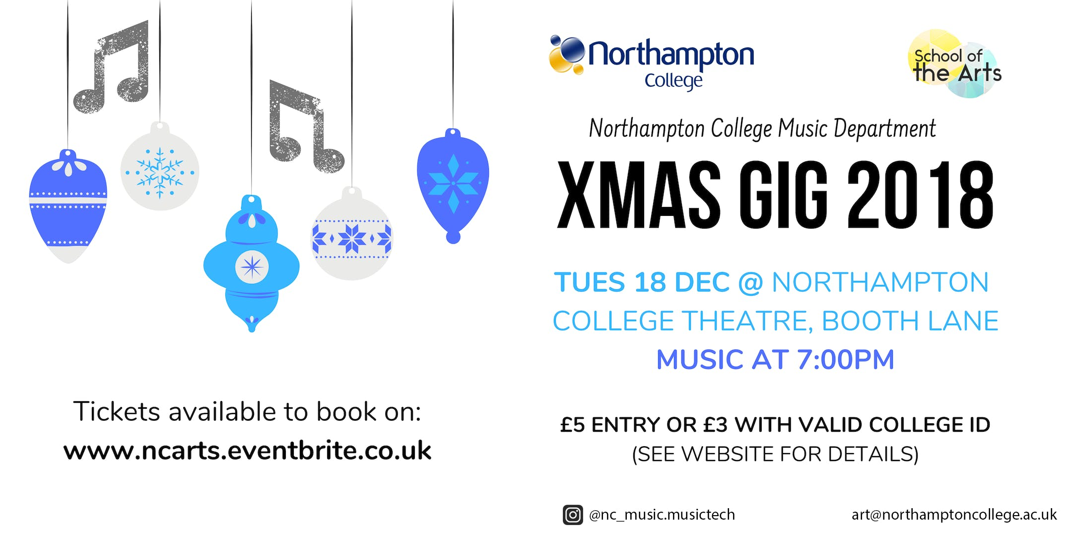 Northampton College XMAS Music Gig 2018