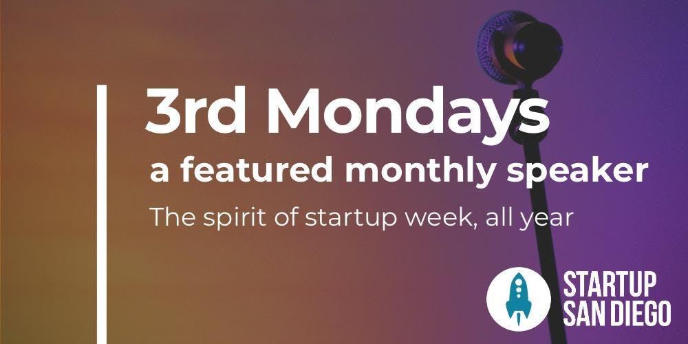 StartupSD 3rd Mondays - January 2019