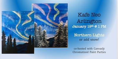 Kafe Neo Sip & Paint: Northern Lights