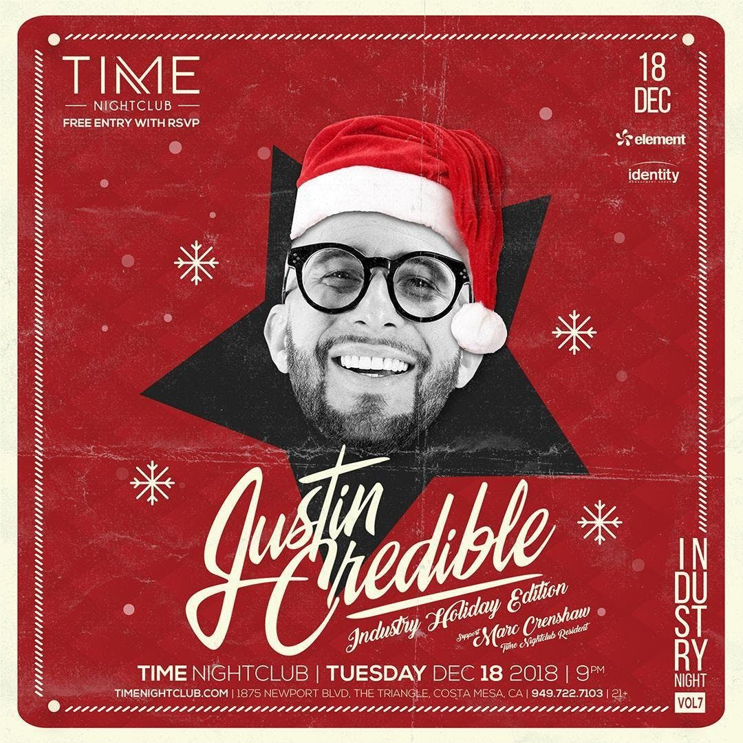Justin Credible at TIME Nightclub | FREE ALL