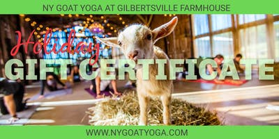 NY Goat Yoga GIFT CERTIFICATE 2018