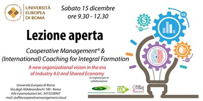 LEZIONE APERTA Cooperative Management & Coaching for Integral Formation