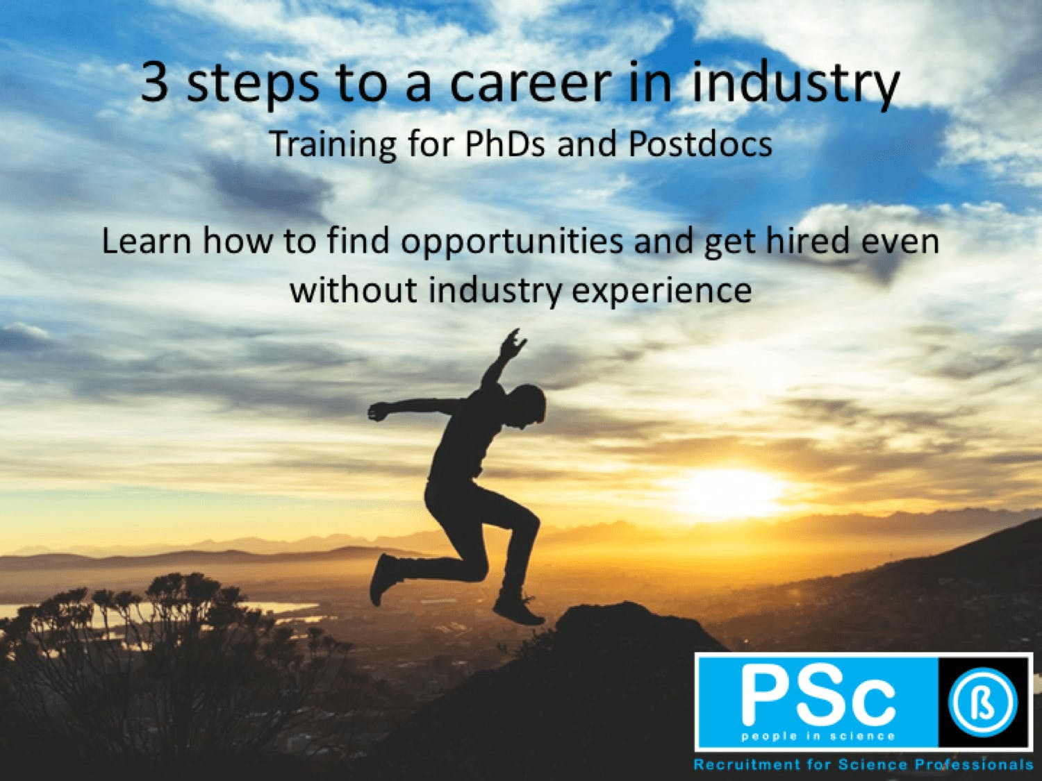 PhD career program 3-steps to a career in industry - Utrecht region
