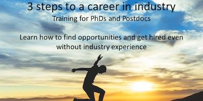 PhD career program 3-steps to a career in industry - Utrecht region