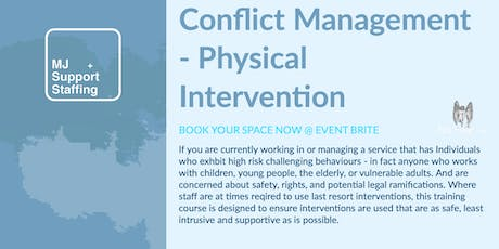 Conflict Management - Physical Restraint tickets