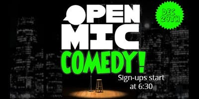 Last Open Mic Comedy Night of the Year!