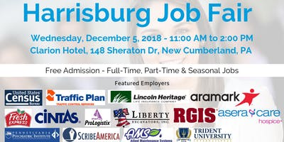 Harrisburg Career Fair December 5 2018 Job Fairs Hiring Events