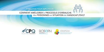 Formation PSH à Trois-Rivière (30 et 31 janvier 2019)