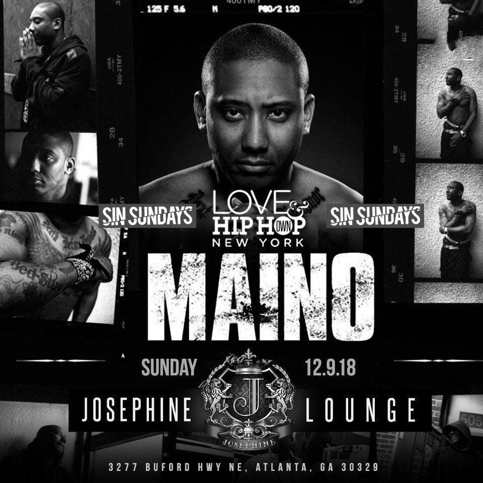 """MAINO"" HOSTS SIN SUNDAYS AT JOSEPHINE LOUNGE"