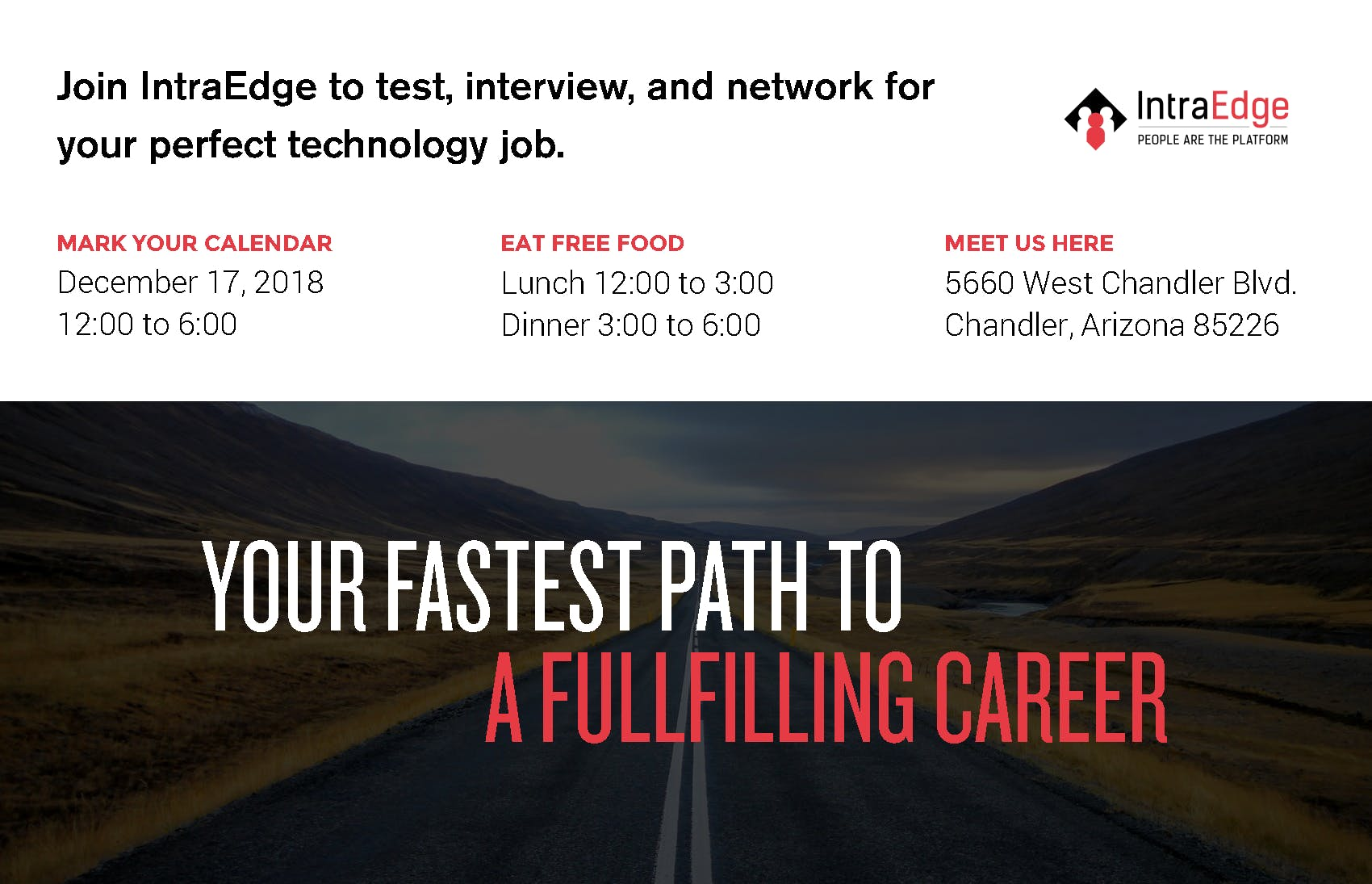 Learn With IntraEdge Hiring Event