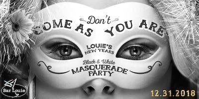 NYE 2018 Black & White Masquerade at Bar Louie Zona Rosa