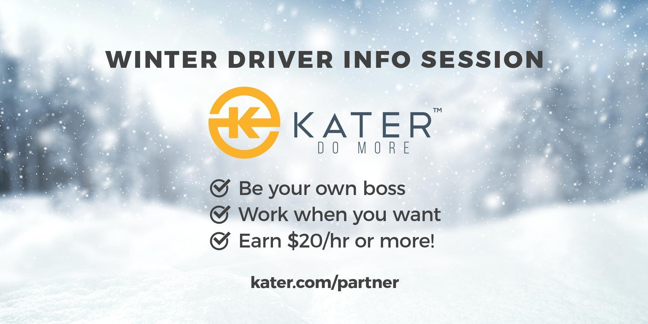 Kater Chauffeur / Winter Driver Info Session
