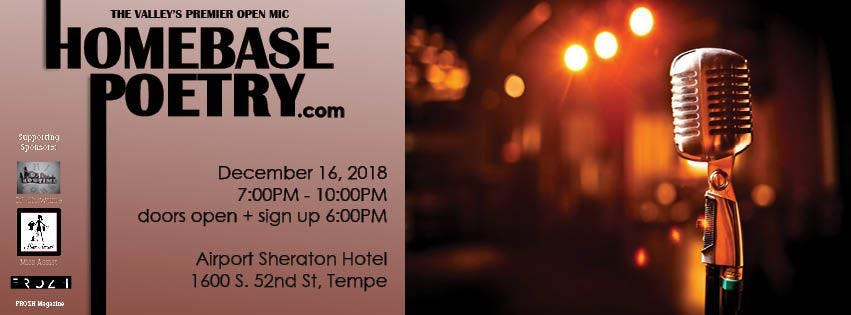 The Last HomeBase Poetry Open Mic of 2018!!!! Let's end the year right!
