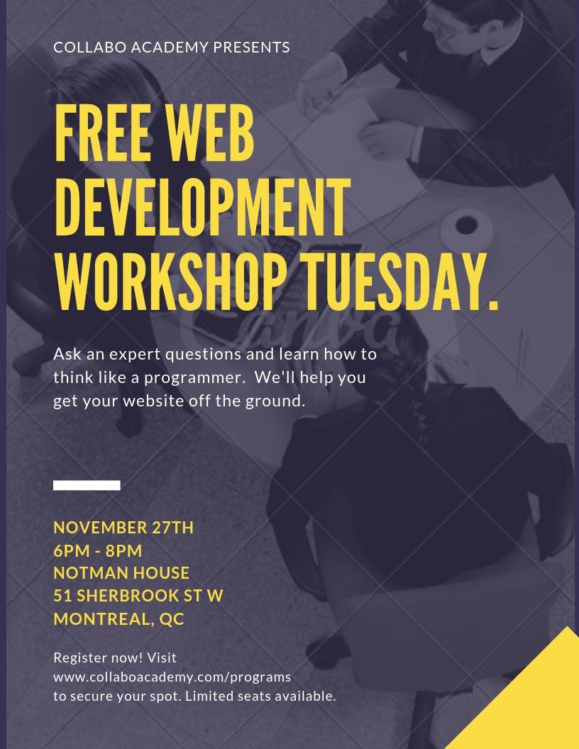 Free CSS Web Development Workshop (Tuesday, D