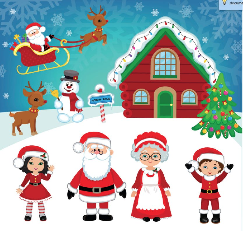 Children's Christmas Party Hosted by Santa Cl