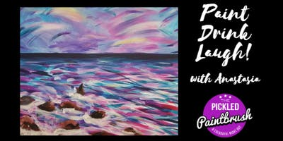 Painting Class - Peony Sea - ALL AGES - January 13, 2018*