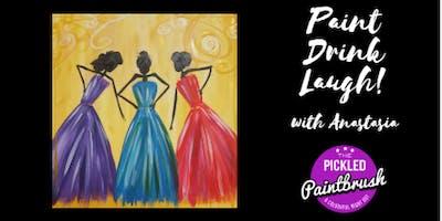 Painting Class - Glamour Girls - January 25, 2018*