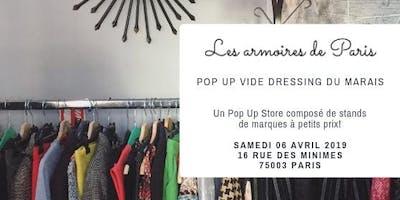 Les armoires de Paris : Pop Up Vide Dressing du Marais