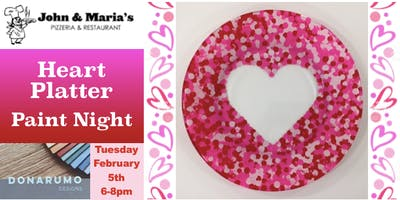 Heart Platter Paint Night at John & Maria