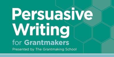 Persuasive Writing for Grantmakers