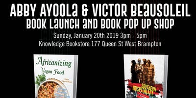 Book launch/pop up shop