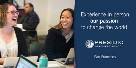 Presidio Graduate School, San Francisco Class Tour - Fall 2019 tickets