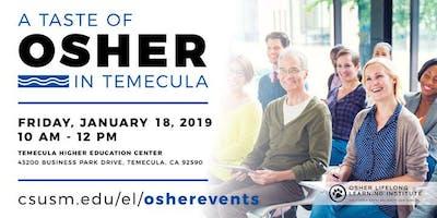 Temecula Taste of Osher Event