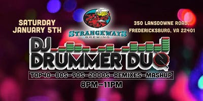 DJ Drummer Duo Winter Bash - Fredericksburg - January