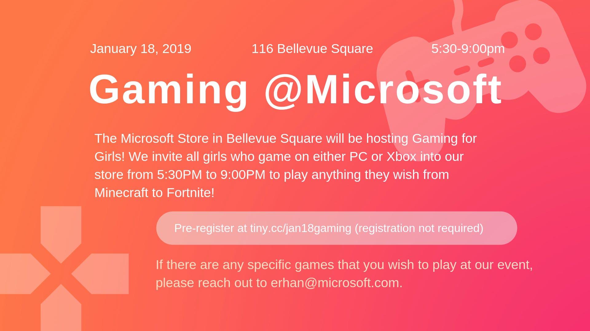 Gaming for Girls at Microsoft
