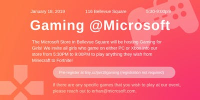 Gaming for Girls at Microsoft