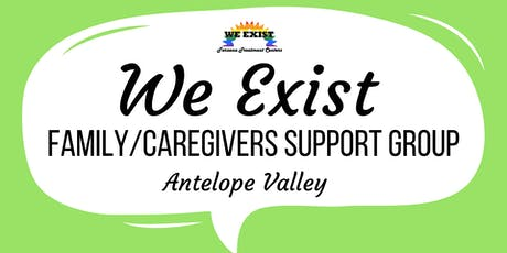 We Exist Family/Caregiver Support Group (AV) tickets