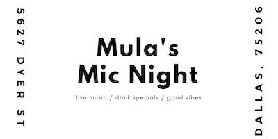 Mula's Mic Night (Open Mic/Concert)