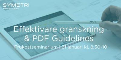 Frukostseminarium Malmö: Effektivare Granskning & PDF Guidelines
