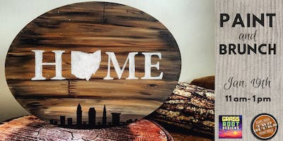 Rustic Home Sign | Paint+Brunch [Two Bucks]
