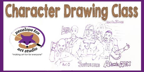 Character Drawing Class - Tuesday Evening tickets