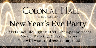 Colonial Hall at  Rockafellas New Year\